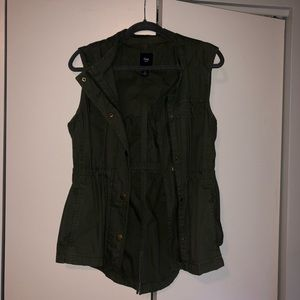 Army Green Gap Hooded Vest